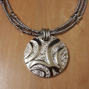 Lia Sophia Silver Synergy Necklace